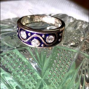 Purple and SS Diamonique ring